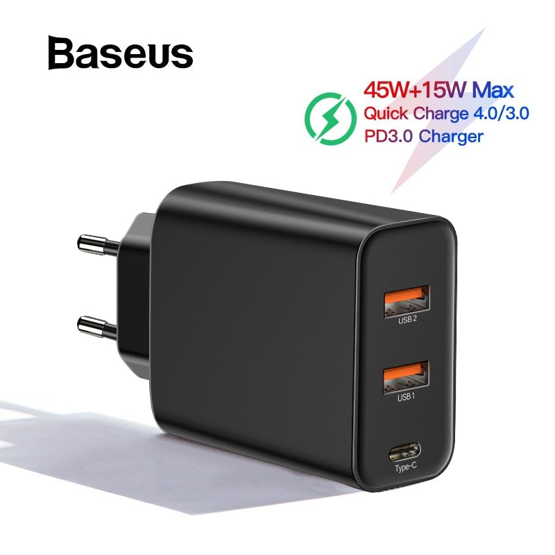 Baseus PPS Quick Charge 4.0 3.0 USB Phone Charger for Samsung s10 QC 4.0 3.0 Quick Charge PD 3.0 Fast Charger for iPhone 11 Pro