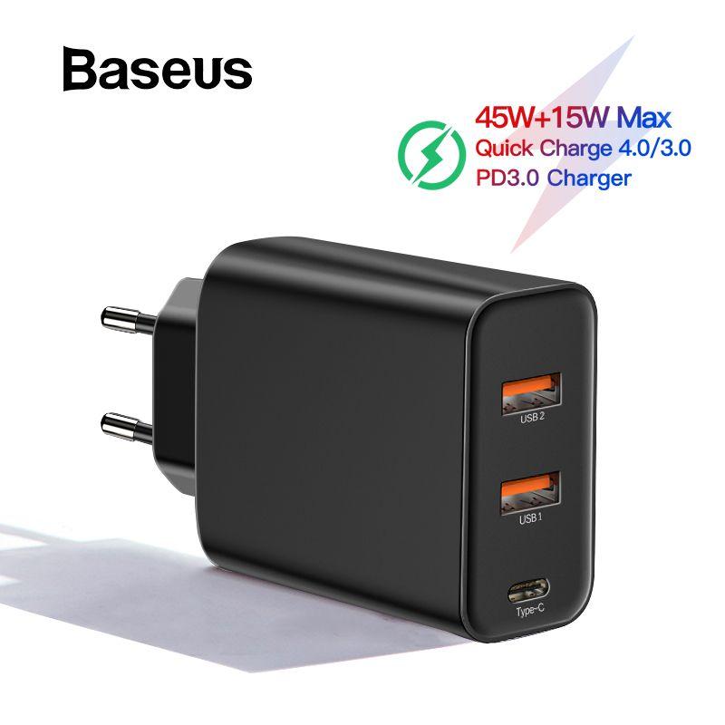 Chargeur rapide 4.0 3.0 USB Baseus PPS pour Samsung s10 QC 4.0 3.0 chargeur rapide PD 3.0 chargeur rapide pour iPhone 11 Pro