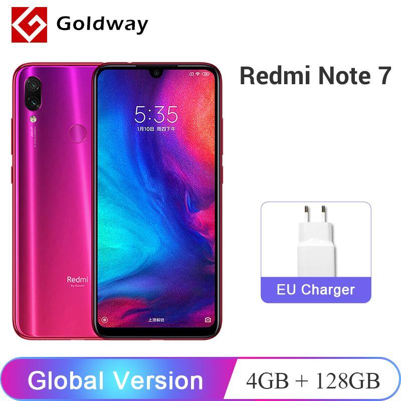 Version globale Xiaomi Redmi Note 7 4GB RAM 128GB ROM téléphone portable Snapdragon 660 Octa Core 6.3 FHD + 48MP double caméra 4000mAh CE