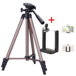 Andoer Protable Camera Tripod Stand with Rocker Arm for Canon Nikon Sony DSLR Camera Camcorder stand Load 2.5kg tripod for phone