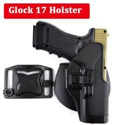 Tactical Glock 17 19 22 23 31 32 Airsoft Pistol Belt Holster Glock Pistol Hunting Accessories Gun Case Left / Right Hand