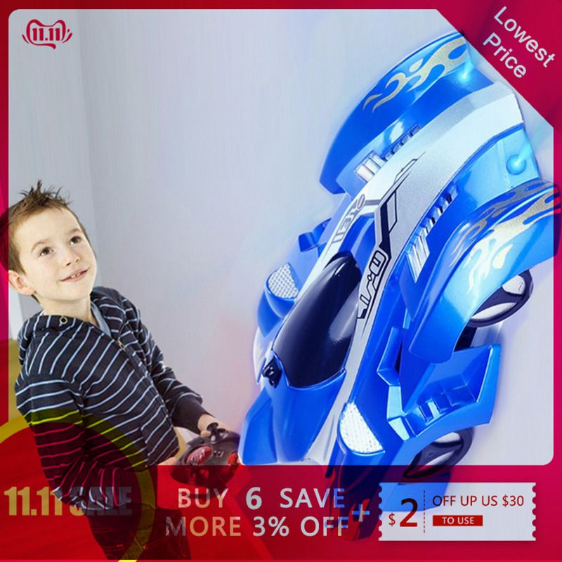 New RC Car Wall Racing Car Toys Climb Ceiling Climb Across the Wall Remote Control Toy Car Model Christmas Gift for Kids
