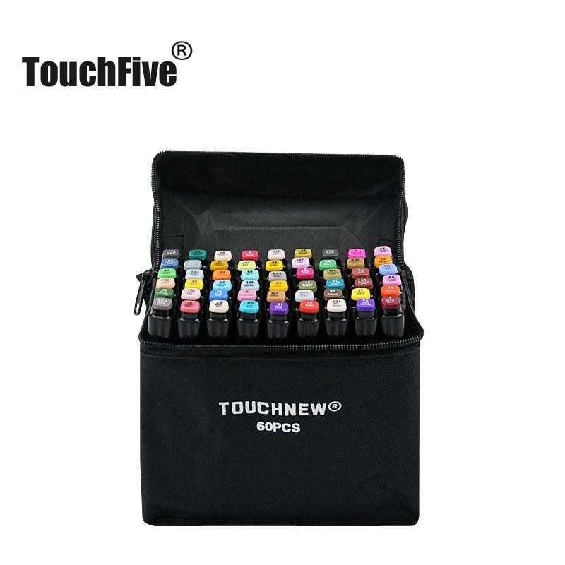 TouchFIVE marqueurs stylo ensemble 30 40 60 80 168 couleurs Animation croquis dessin Art alcool Anime pinceau stylo marqueur de couleur (marqueur noir)