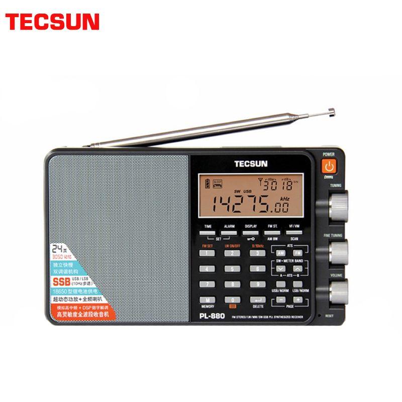 TECSUN PL-880 Tragbare Stereo Volle Band Radio mit LW/SW/MW SSB PLL Modi FM (64- 108 mHz)