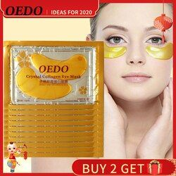 10pcs/lot Eye Care Treatment & Mask Gold Crystal Collagen Skin Care Eye Patches Dark Circle Whitening Face Mask Care Effect