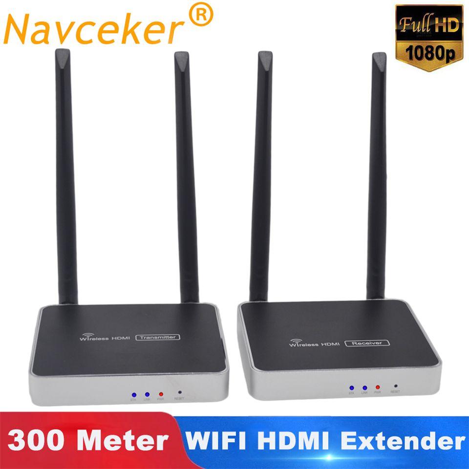 300m (984ft) wireless HDMI Sender Empfänger Mit IR Fernbedienung HDMI Wireless Extender Unterstützung 1080P WIFI Sender Empfänger
