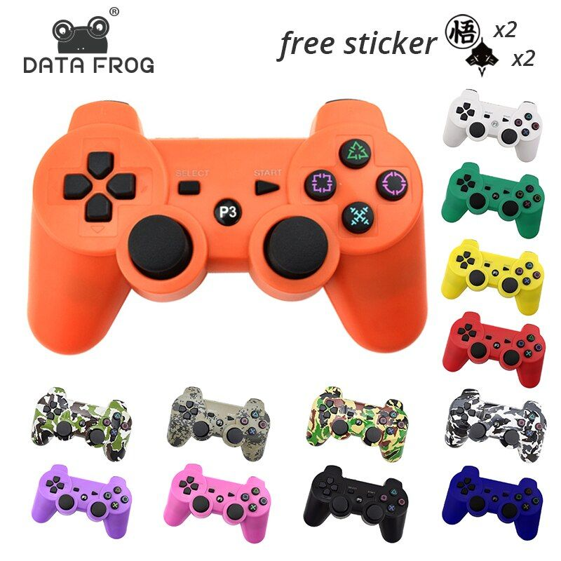 DATA FROG For Sony Playstation3 For PS3 Controller Wireless Bluetooth Gamepad Joystick For Mando PS3/ PC Gamepads Controle