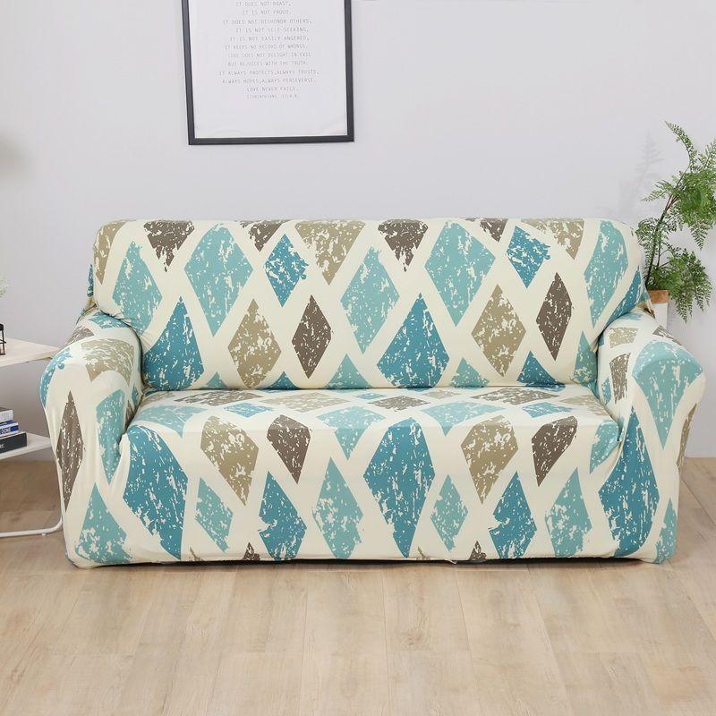 Housse de canapé élastique pour salon Spandex Housse de fauteuil Magic Magic Printed Flower Couch Cover 1/2/3/4 Seater