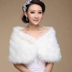 Hot New Wedding Bolero Outerwear Accessories Urged Wrap Bride Formal Winter Cape Bride Fur Shawl Wedding Jackets Wrap OJ00169