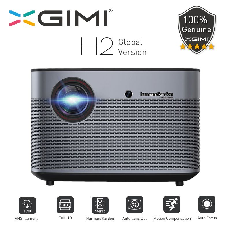 XGIMI H2 DLP Projektor 1080P Volle HD 1350Ansi Lumen 4K Projecteur 3D Unterstützung Android Wifi Bluetooth Home theater Globale version