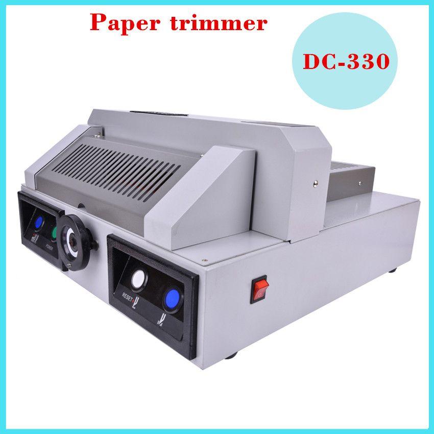 Découpeuse de papier électrique, Machine électrique de coupeur de papier de bureau de 330mm, découpeuse de livre, bureau à domicile 1PC DC-330 220V