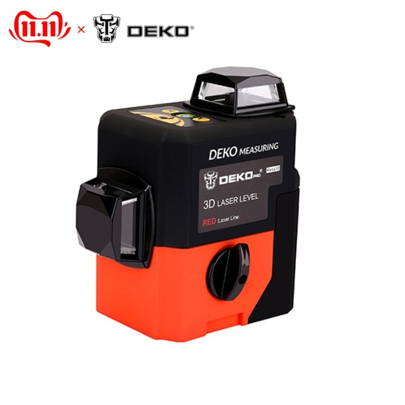 Abstand meter Laser ebene DEKO HV-LL12R 3D (12 linien, rot) super leistungsstarke 360 vertikale und horizontale selbst nivellierung
