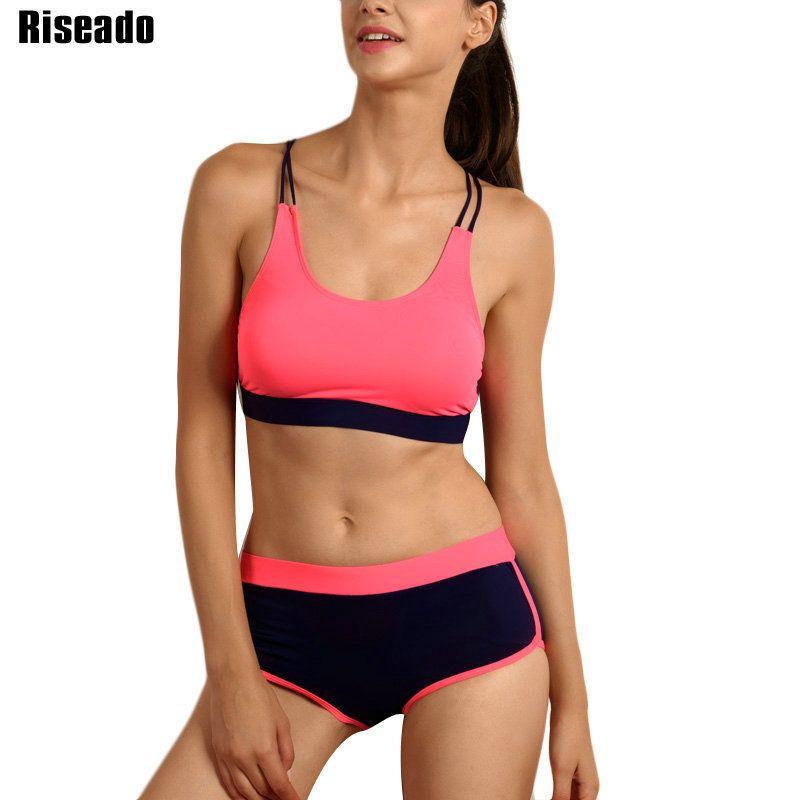 Riseado Bikini 2019 maillots de bain femmes Sport Patchwork maillot de bain maillots de bain pour femmes d'été maillots de bain vêtements de plage