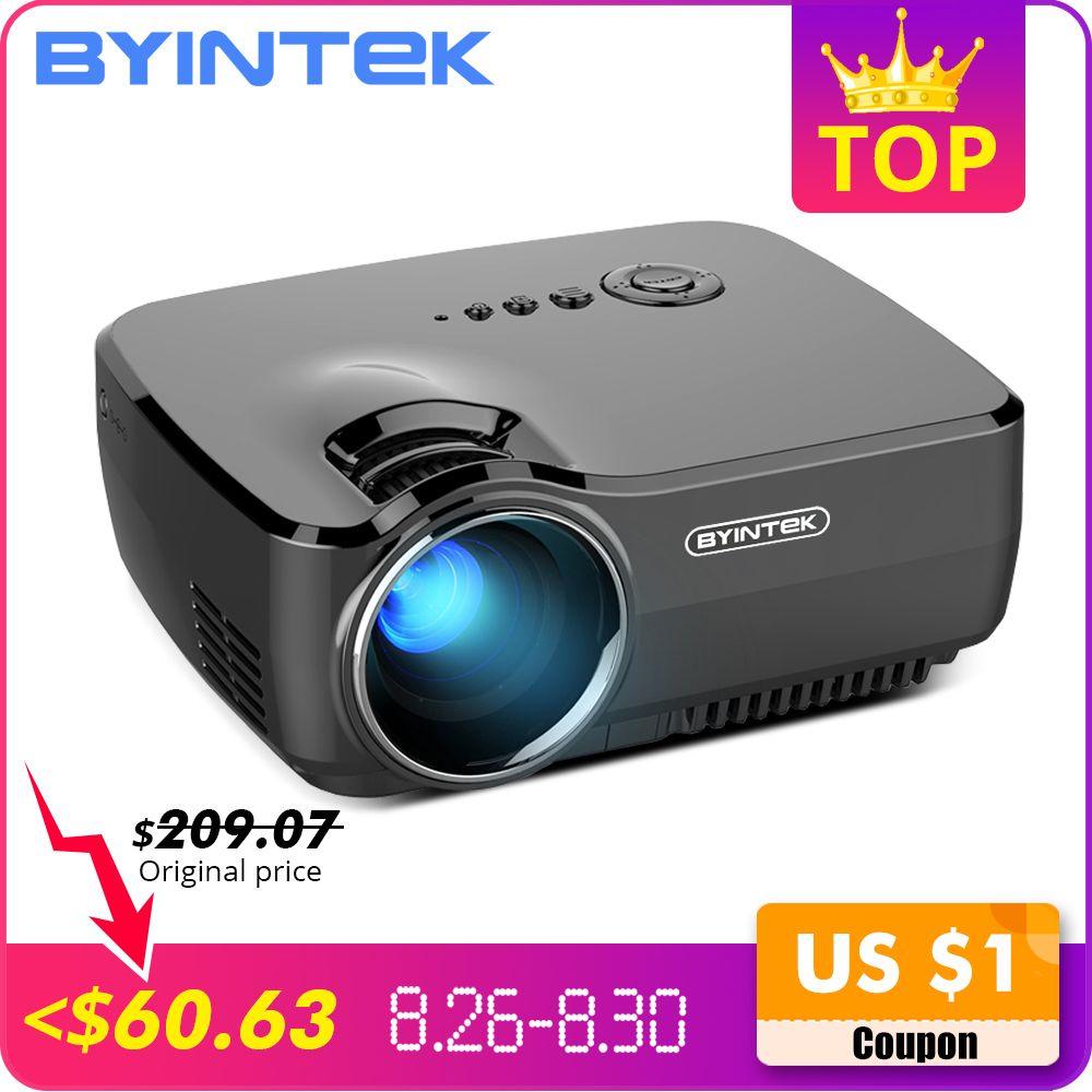 BYINTEK marque SKY GP70 Portable Mini LED cinéma vidéo numérique HD Home cinéma projecteur projecteur projecteur
