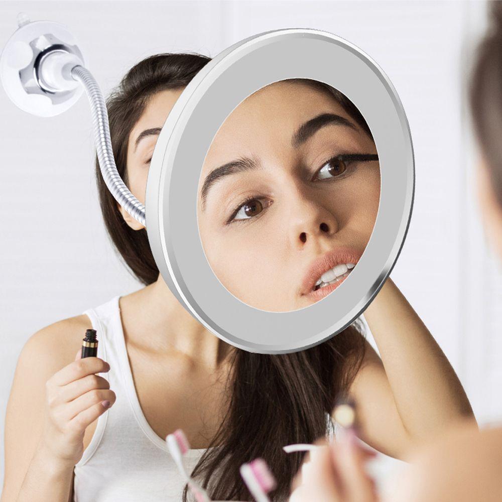 Miroir de maquillage à LED loupe lampe vanité miroir 360 degrés Rotation 10X loupe miroir LED Table veilleuse salle de bain