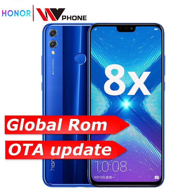 Rom globale Huawe Honor 8X6.5 ''plein écran OTA mise à jour Smartphone pas 8x max téléphone portable Android 8.1 Octa Core identification d'empreintes digitales