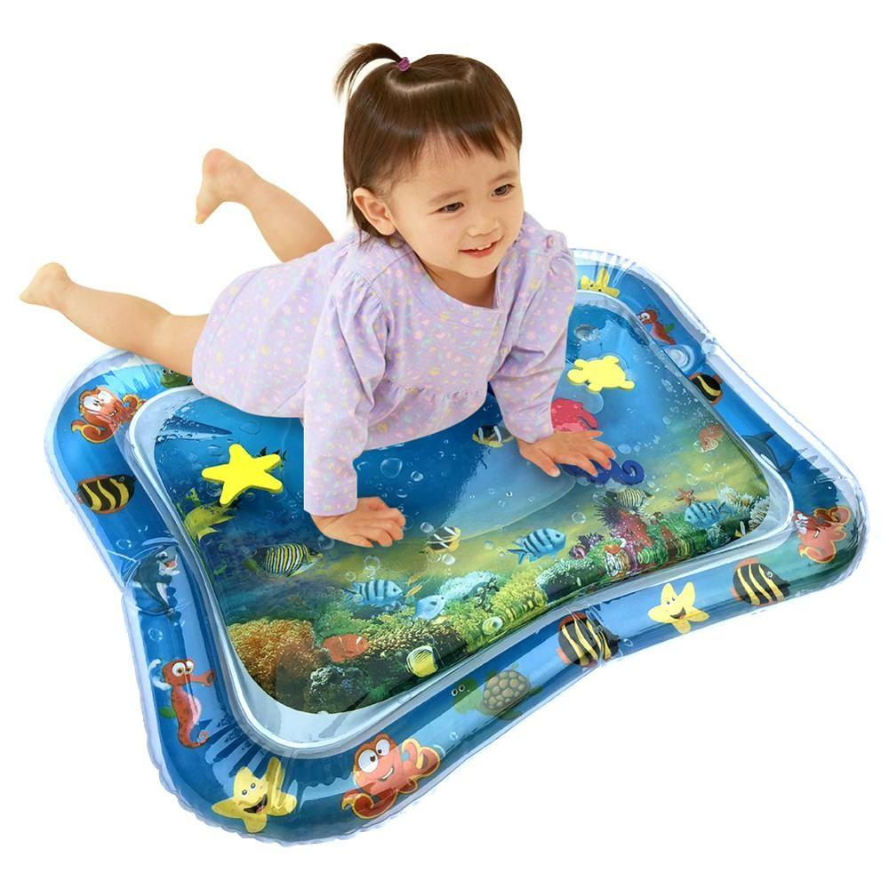 Creative double usage jouets bébé coussin gonflable Patted bébé gonflable ramper coussin d'eau tapis de jeu d'eau cadeau de noël