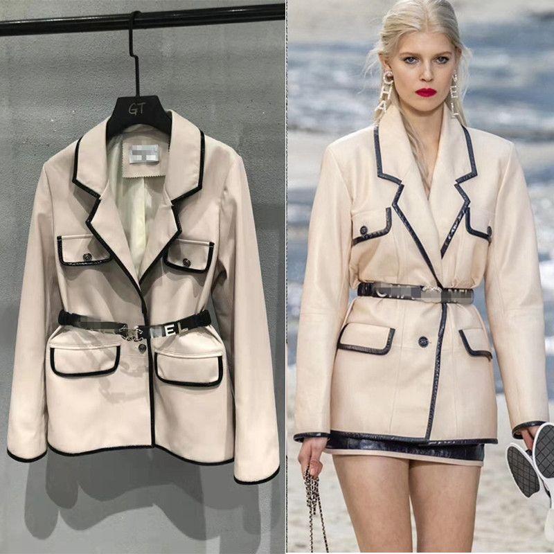 Frau Mäntel 100% Natürliche Schaffell Leder 2019 Mode Schaffell Leder Windjacke Weibliche Jacken Beste Verkäufer