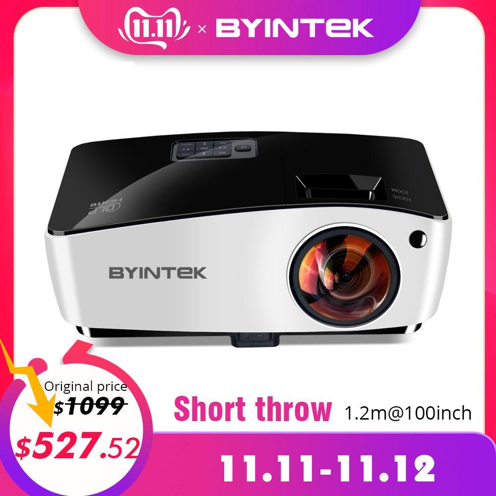BYINTEK Wolke K5 DLP Kurz Werfen 3D Video HD Projektor Für Tageslicht Bildung Hologramm Business Volle HD 1080P Film heimkino