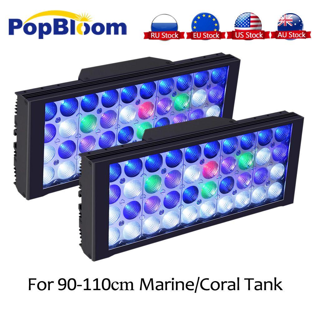 PopBloom Aquarium Led Beleuchtung Lampe Led Aquarium Licht Riff Led Licht Aquarium Beleuchtung Marine Aquarium Turing30