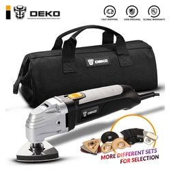 DEKO 110V/220V Variable Speed Electric Multifunction Oscillating Tool Kit Multi-Tool Power Tool Electric Trimmer Saw Accessories
