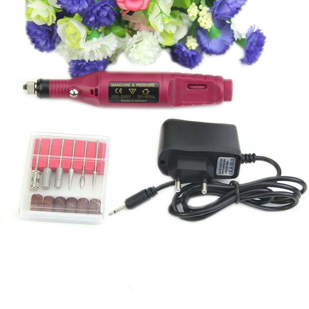 Livraison gratuite mode manucure pédicure Nail Art fichier forets stylo électrique nouvelle Machine ensemble ue/US Plug # Y207E # offre spéciale