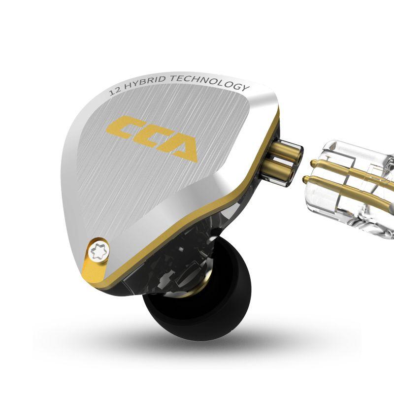 AK CCA C12 5BA + 1DD In Ohr Kopfhörer Hybrid Headset HIFI Bass Noise Cancelling Ohrhörer Kopfhörer Ersetzt Kabel CCA c10/A10/C16