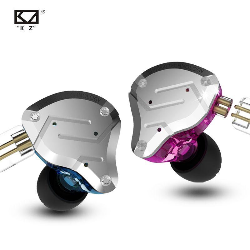 Kz ZS10 PRO In Ohr Headset Metall 4ba + 1dd Hybrid 10 Einheiten Hifi Bass Ohren Monitor Ohrhörer Sport Noise cancelling Her zsx