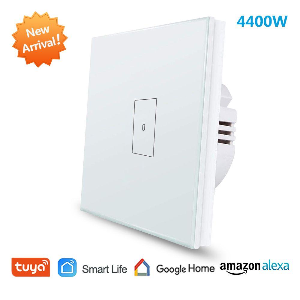 Ue WiFi chaudière chauffe-eau interrupteur 4400 W Tuya vie intelligente App télécommande sur minuterie commande vocale Google accueil Alexa Echo