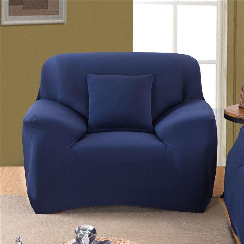 1/2/3/4 places couleur unie élastique canapé couverture Spandex moderne Polyester coin canapé canapé housse chaise protecteur salon