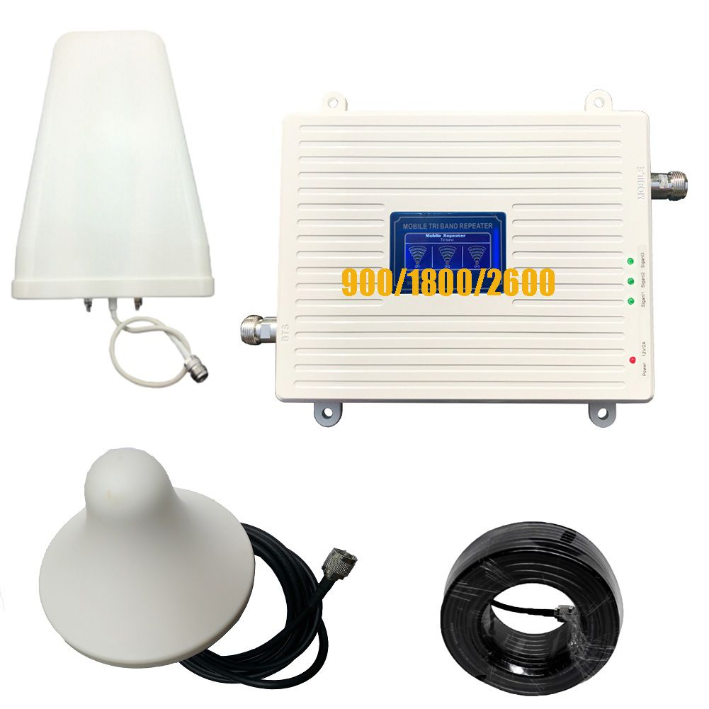 2G 3G 4G Triple-Band-Signal Booster GSM 900 DCS 1800 FDD LTE 2600 Handy Signal repeater Handy Cellular Verstärker