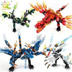 115pcs Ninja Dragon Knight Model Building Blocks Compatible legoingly KAI JAY ZANE Figures Bricks toys for children boy friends