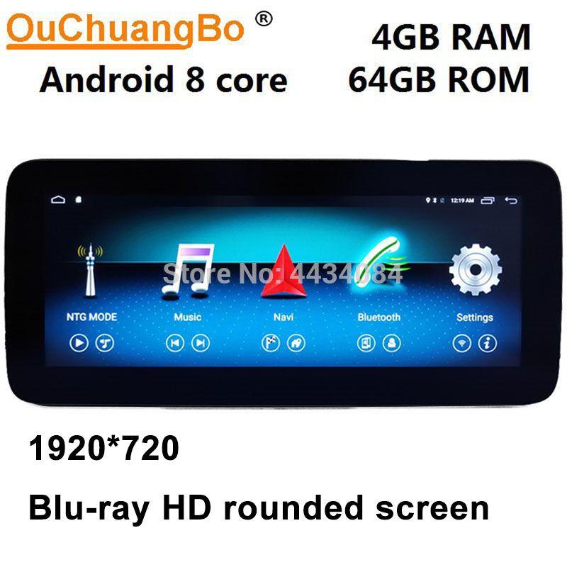 Ouchuangbo android 9.0 radio gps für mercedes benz C C180 c200 C220 230 260 300 W204 2008-2014 mit 4GB + 64GB RHD Rechts fahren
