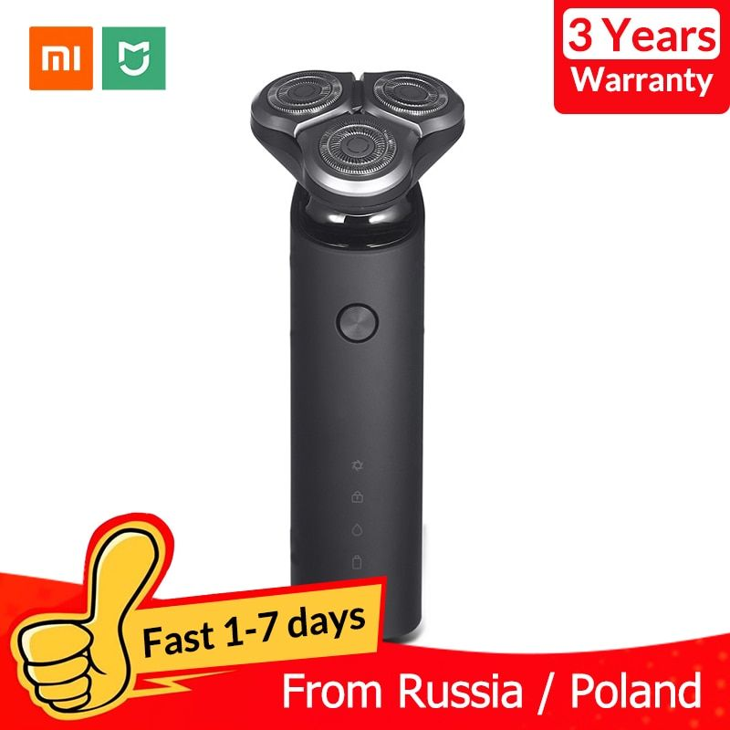 Xiaomi Mijia rasoir électrique pour hommes Rechargeable Flex rasoir sec humide Machine de rasage tondeuse à barbe IPX7 lavable double lame