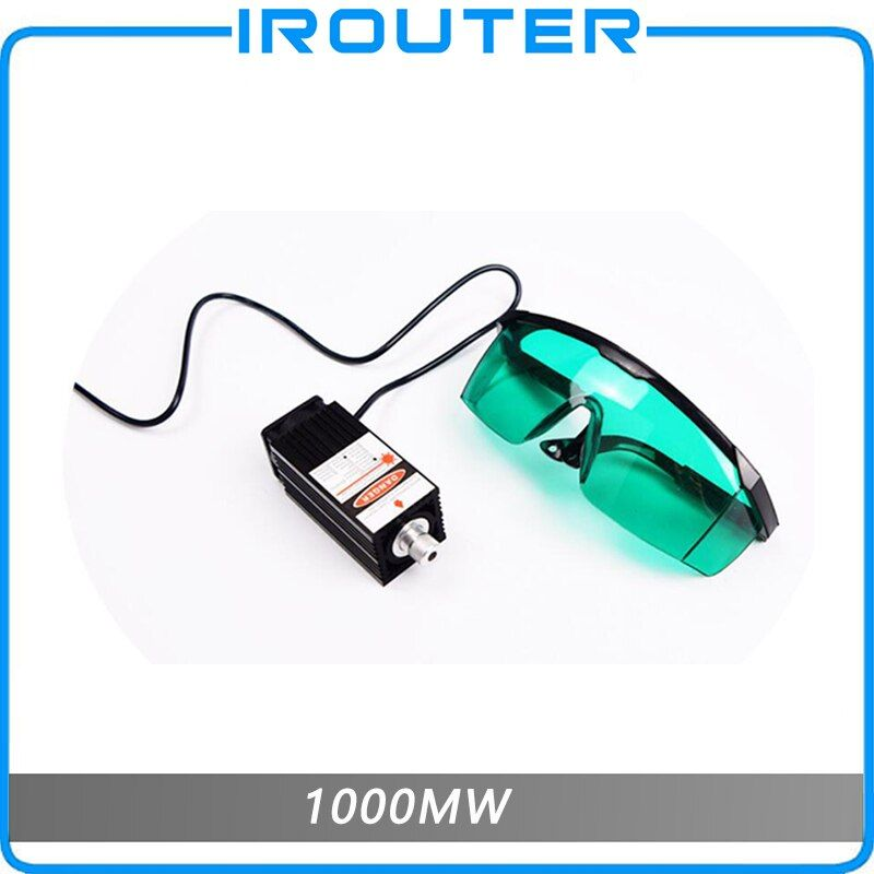 1000mw 405NM blau lila laser modul mit schwerpunkt laser gravur, 1w laser röhre, Laser modul diode