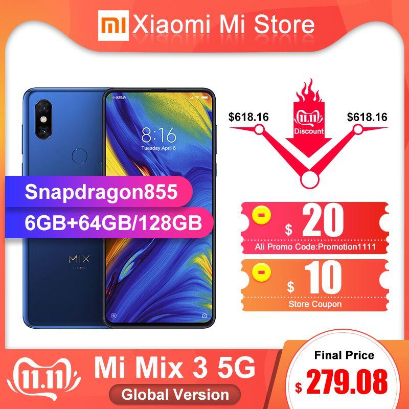 Globale Version Xiao mi mi mi x 3 5G Netzwerk Smartphone 6GB 64 GB/128 GB Snapdragon 855 6,39