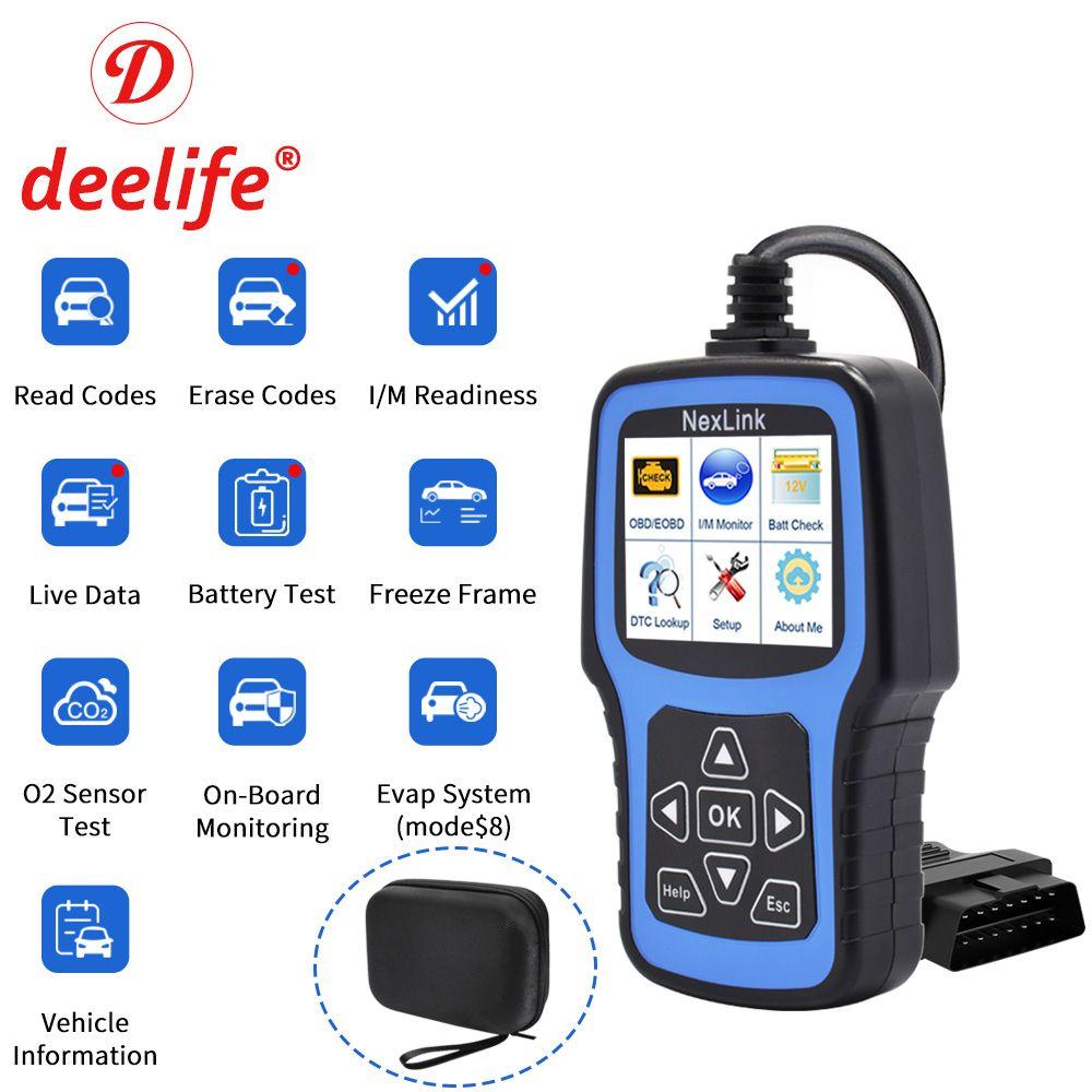 Deelife professionnel OBD2 Scanner automobile pour voiture outil de Diagnostic OBD II Auto Diagnostic OBD 2 ODB2 scaner lecteur de Code
