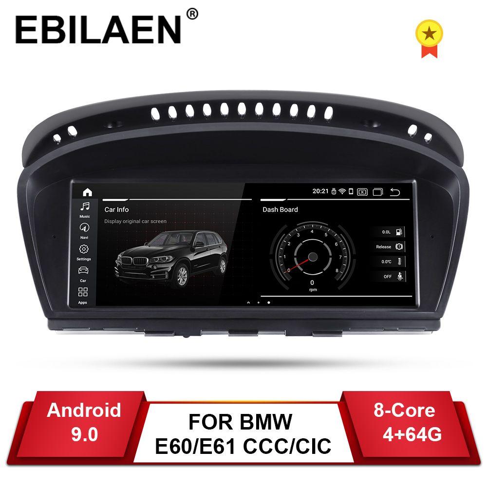 YUEMAIN Android 9.0 Auto DVD GPS-Player für BMW 5 series E60 E61 E62 E63 3 serie E90 E91 CCC/ CIC Navigation AutoRadio Multimedia