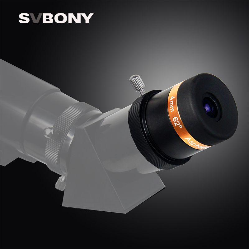 Svbone asphérique oculaire télescope HD grand Angle 62 degrés lentille 4/10/23mm entièrement enduit pour 1.25