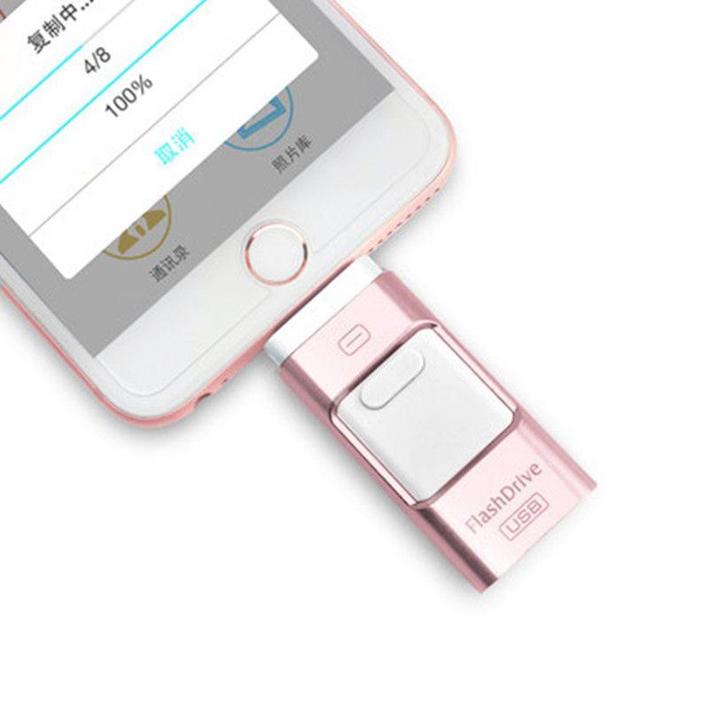 Stift stick 128GB 64GB 32GB 16GB Stick USB 2.0 OTG iFlash Drive HD USB-Sticks für iPhone 7 iPad iPod iOS Android Telefon