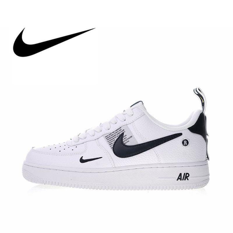 Original Authentic Nike Air Force 1 07 LV8 Utility Men's Skateboarding Shoes Sport Outdoor Sneakers Designer 2018 New AJ7747-100