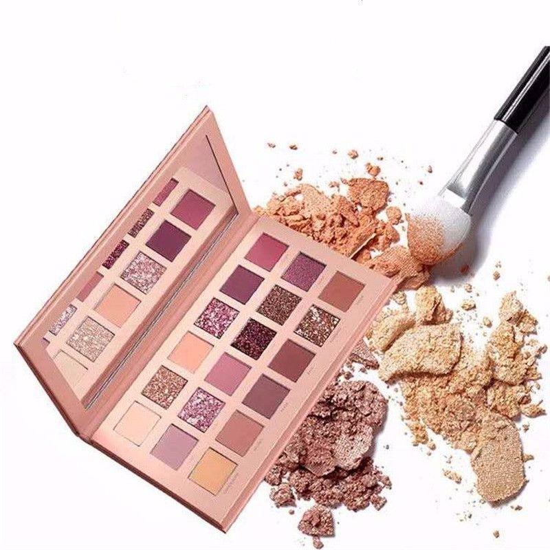 18 couleurs Nude brillant fard à paupières maquillage nacré paillettes Pigment ombre à paupières palette imperméable à l'eau cosmétiques ombre à paupières plateau