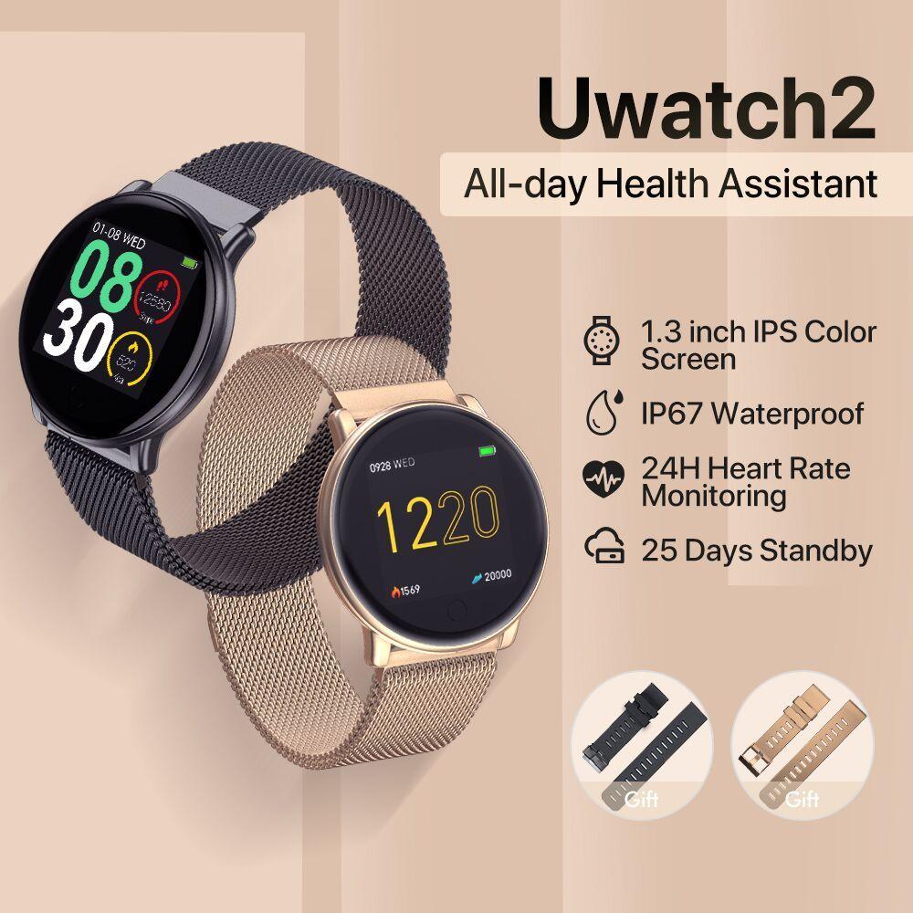 UMIDIGI Uwatch2 Montre Intelligente Pour Android, IOS 1.33 'Plein Écran Tactile IP67 25 jours En Veille 7 Modes Sportifs En Métal Unibody