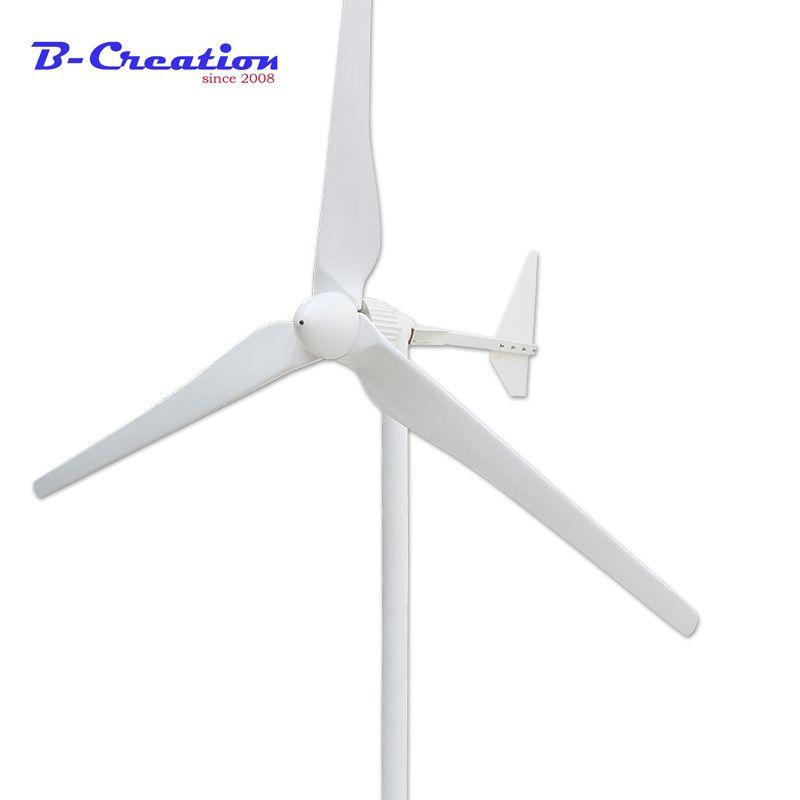 Drei Phase AC Ausgang 2KW 2000W 24v 48v 96v 110v 220V 380v Wind generator/Wind Turbine 3 mt/s Niedrigen Wind Geschwindigkeit Starten 3 klinge