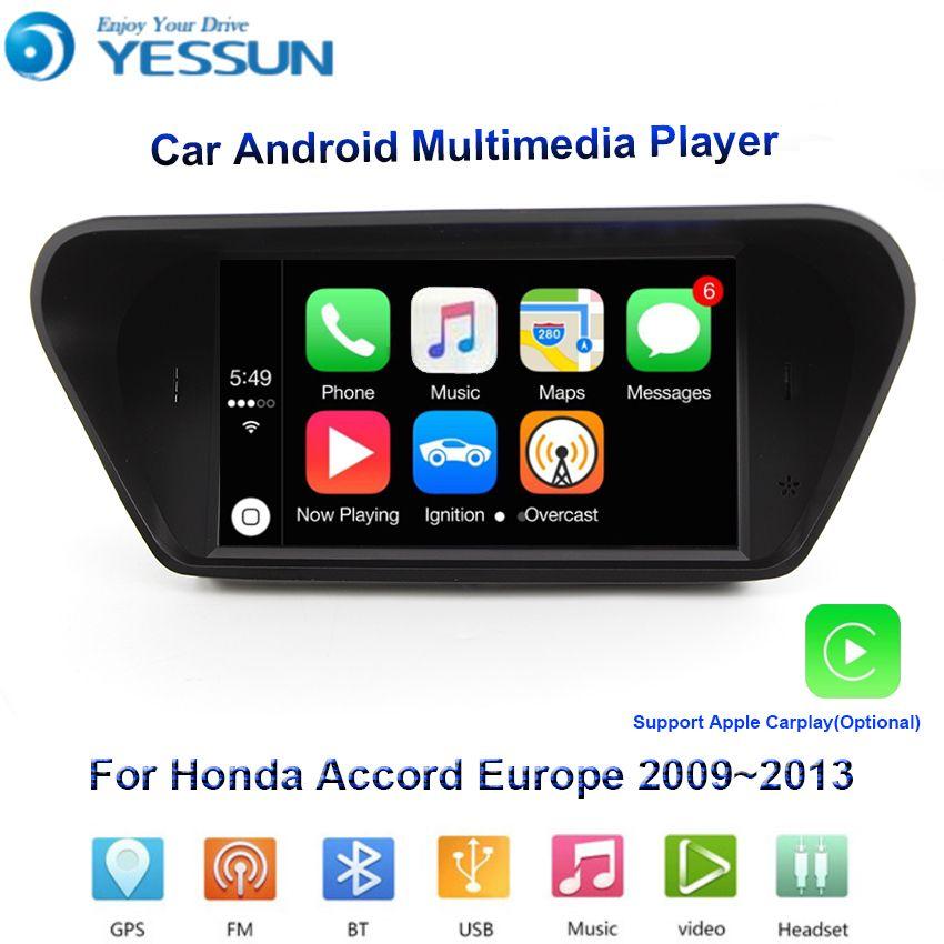 YESSUN Für Honda Accord 2009 ~ 2013 Auto Android Multimedia Player GPS Navigation Großen Bildschirm AUTO Radio Bluetooth unterstützung carplay