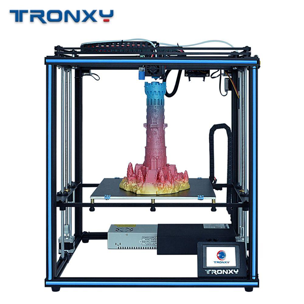 Tronxy 2019 Neue Verbesserte X5SA 24V 3D Drucker CoreXY DIY Kits Metall Bauen Platte 330*330mm Wärme tabelle 3d maschine Filament Sensor
