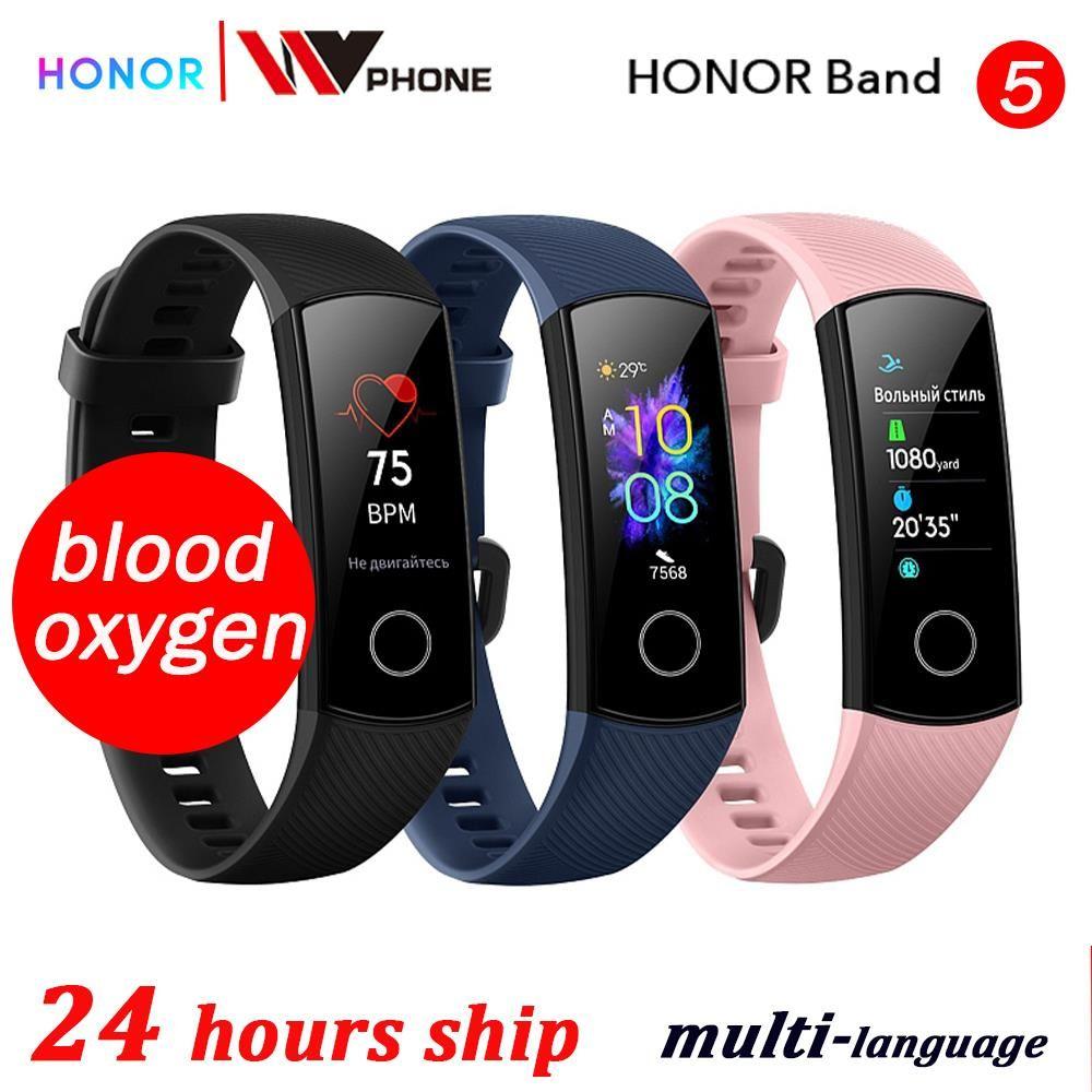 Sang oxygène honneur bande 5 bande intelligente AMOLED Huawe honneur montre intelligente fréquence cardiaque fitness sommeil natation sport tracker