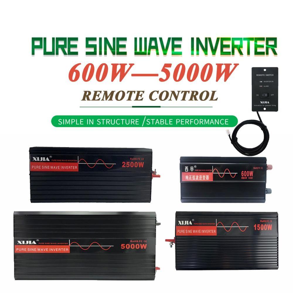Onduleur à onde sinusoïdale pure DC12V/24 V/48 V/60 V/72 V à AC 110 V/120 V/220 V/230 V/240 V convertisseur outil pour la maison/ bateau/Solaire
