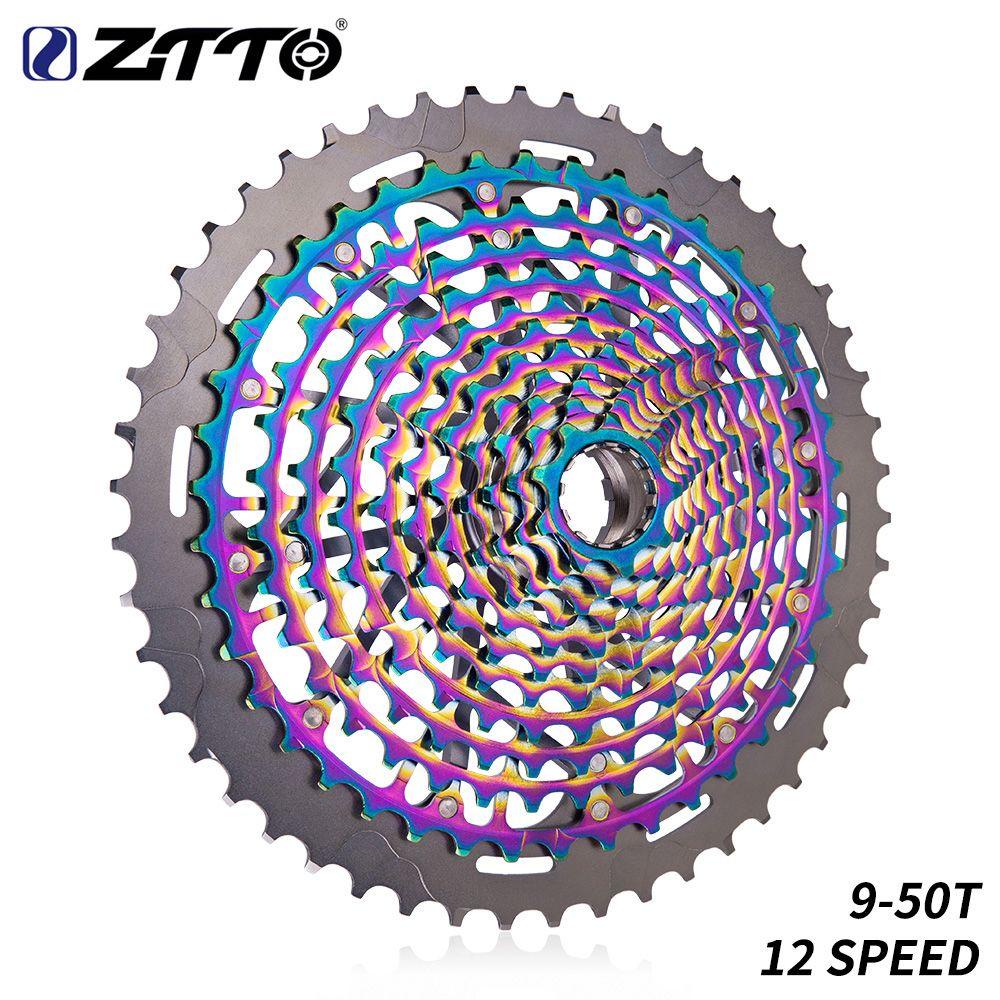 ZTTO MTB 12 Geschwindigkeit 9-50T Kassette Ultimative XD Kassette Regenbogen 375g ZTTO ULT Kassette Ultraleicht 12s Kassette 1299 k7 Bunte