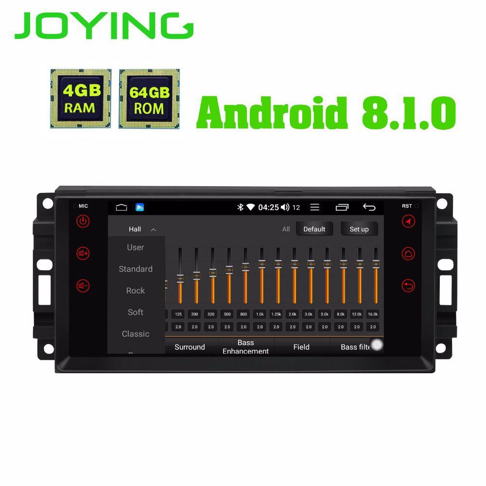 JOYING 4GB RAM Android 8.1 Auto Audio HU stereo für JEEP WRANGLER Radio GPS system für Grand Cherokee kopf einheit für Dodge Avenger